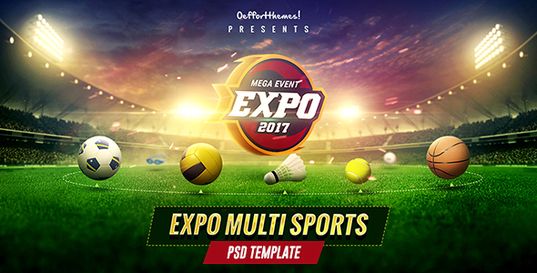 ThemeForest Expo Multi Sports Event PSD Template 20575198