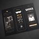 Blackboard Trifold Barbershop Brochure - GraphicRiver Item for Sale