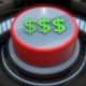 3D Red $ Dollar Button Pressed and Glowing - VideoHive Item for Sale