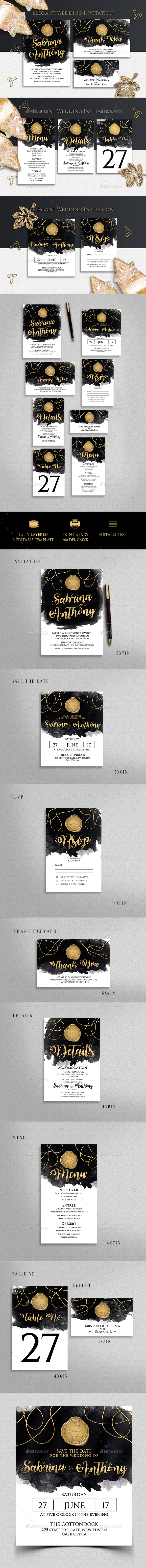 GraphicRiver Wedding Invitation 20858931