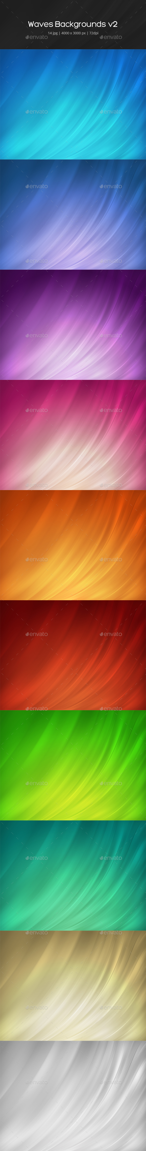 Abstract Waves Backgrounds v2 - Abstract Backgrounds