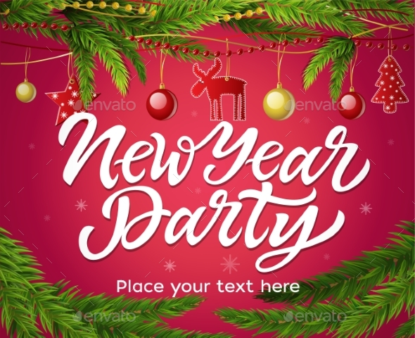 New Year Party - Modern Vector Realistic - New Year Seasons/Holidays