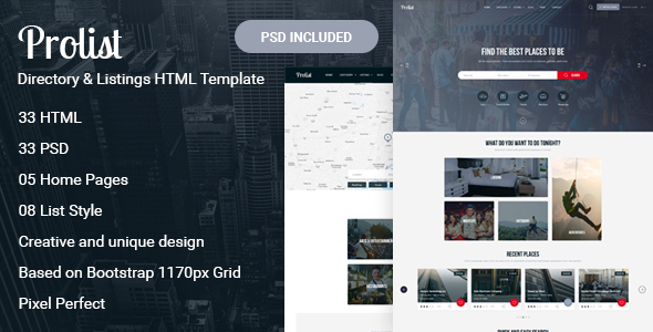 Prolist - Directory & Listings HTML Template