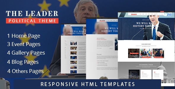 The Leader- Multi-purpose Landing Political Template - Corporate Site Templates