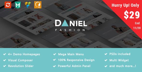 Daniel - Fashion Responsive WooCommerce WordPress Theme - WooCommerce eCommerce