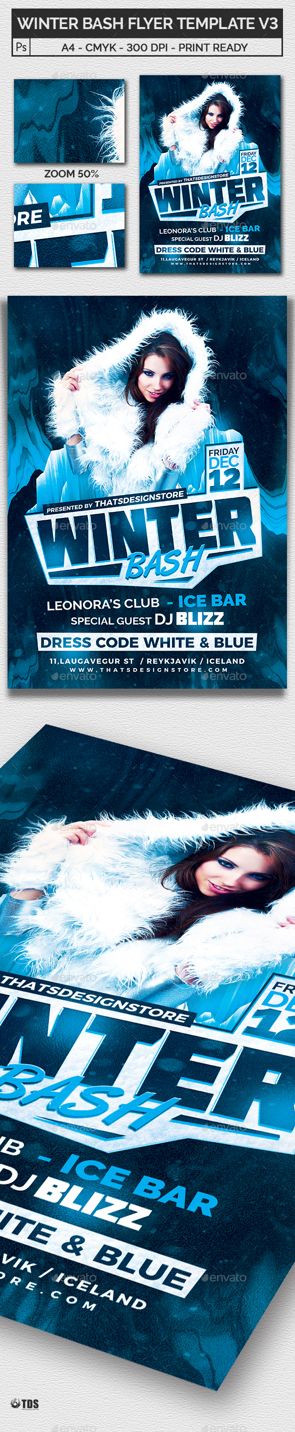 Winter Bash Flyer Template V3 - Clubs & Parties Events