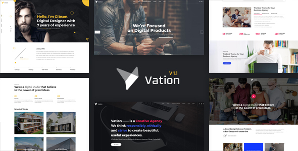 Vation | Responsive Multi-Purpose HTML5 Template - Business Corporate