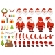 Mascot Creation Kit of Christmas Character. Santa