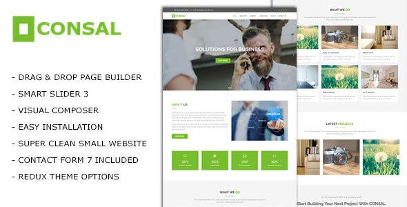 Consal - Corporate Business Agency WordPress Theme - Business Corporate