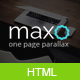 Maxo - One Page Parallax Joomla Template - ThemeForest Item for Sale