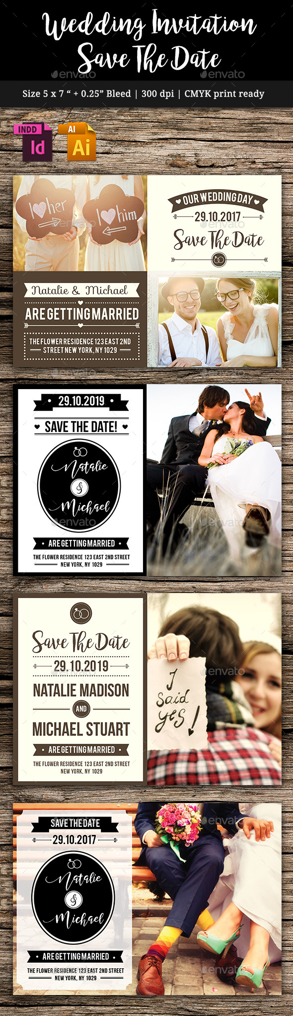 GraphicRiver Wedding Save The Date Vol 4 20859586