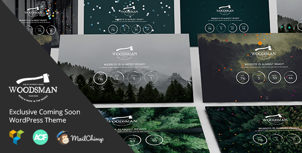 Woodsman - Coming Soon WordPress Theme - Business Corporate