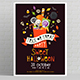 Halloween Poster with Sweets - GraphicRiver Item for Sale