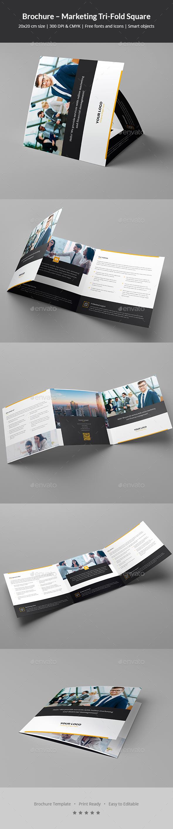 Brochure – Marketing Tri-Fold Square - Corporate Brochures