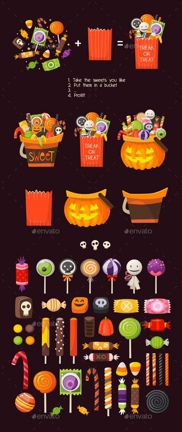 Loads of Sweets for Halloween - Halloween Seasons/Holidays