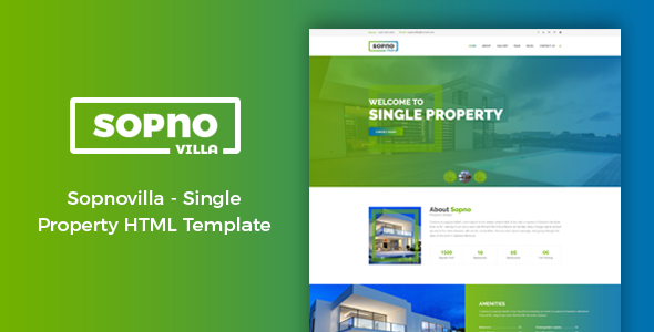 Download Sopnovilla - Single Property HTML Template            nulled nulled version
