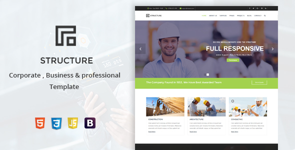 Structure - Construction, Building Business Template