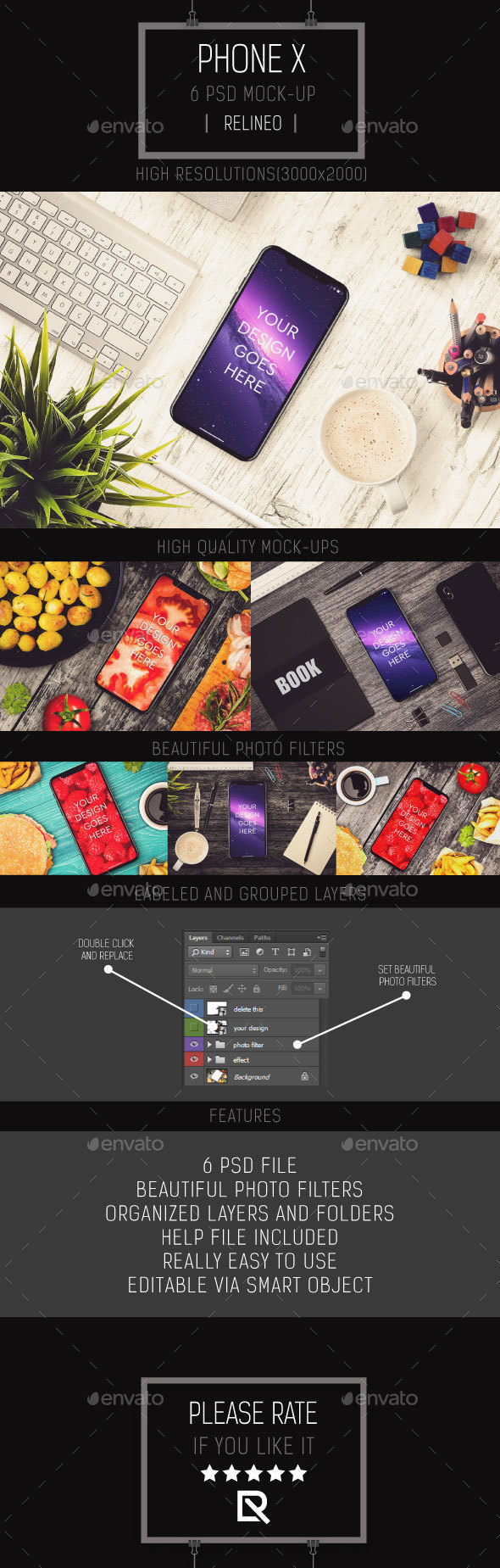 GraphicRiver Phone X Mock-up Pack Vol.1 20834601