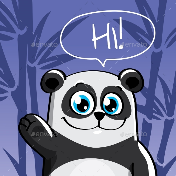 GraphicRiver Vector Illustration of Cartoon Panda 20860393