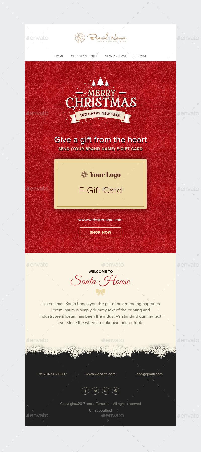 X mas e gift christmas e gift card email template psd by preview01 christmas e gift card yelopaper Gallery