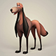 Game Ready Fantasy Saluki Dog - 3DOcean Item for Sale