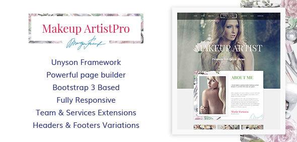 ThemeForest MakeupArtistPro Visage and Hair Portfolio WordPress Theme 20709120
