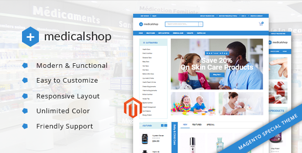 Medical Shop - Pharmacy and Medical Magento Responsive Theme - Health & Beauty Magento