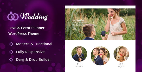 Wedding - Wedding & Wedding Planner WordPress Theme - Wedding WordPress