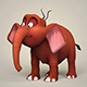 Game Ready Cartoon Elephant - 3DOcean Item for Sale