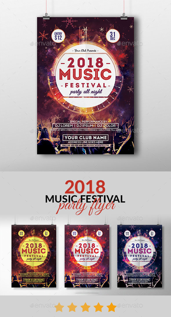 2018 Music Festival Flyer - Events Flyers