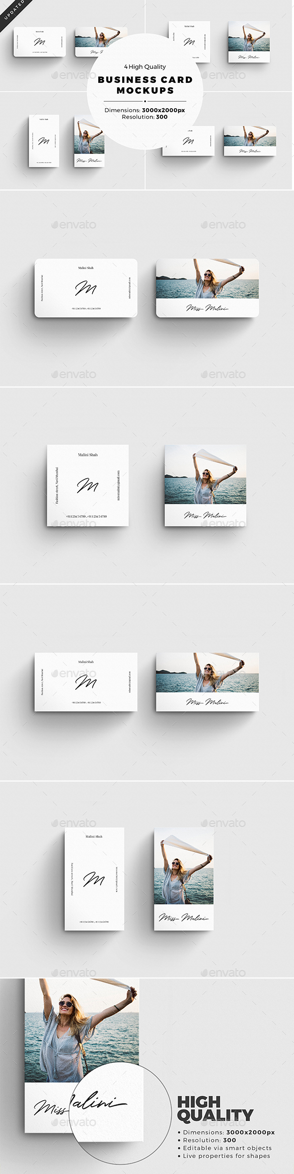 GraphicRiver Business Card MockUps [4 psd Files] 20837317
