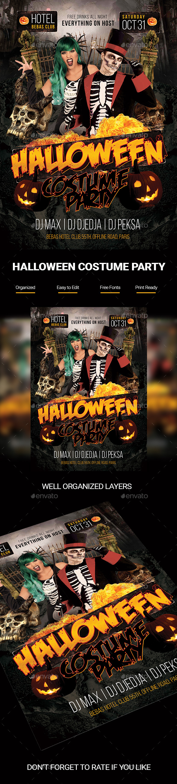 Halloween Costume Party Poster - Holidays Events