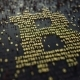 Bitcoin Symbol Made of Golden Numbers - VideoHive Item for Sale