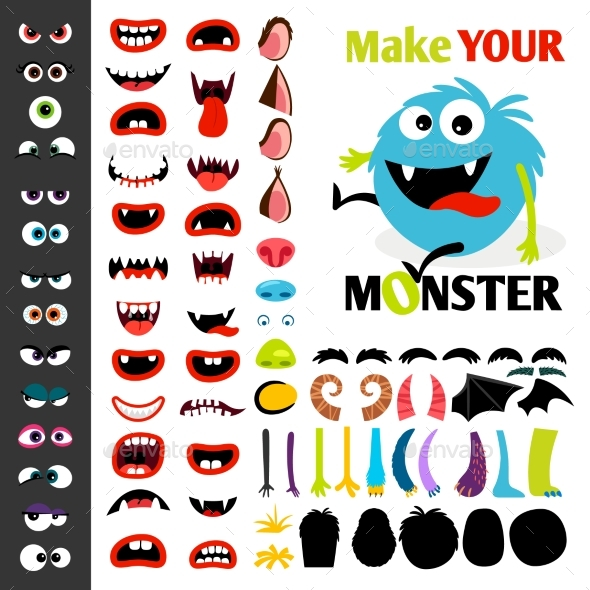 GraphicRiver Make a Monster Icons Set 20860955