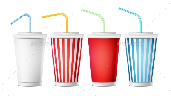 Soda Cup Template Vector - Food Objects