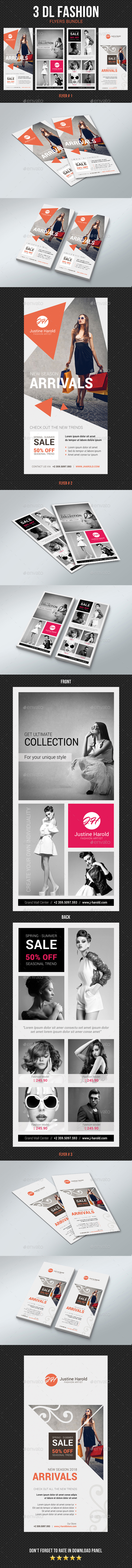 GraphicRiver DL Fashion Flyer Bundle 20861064