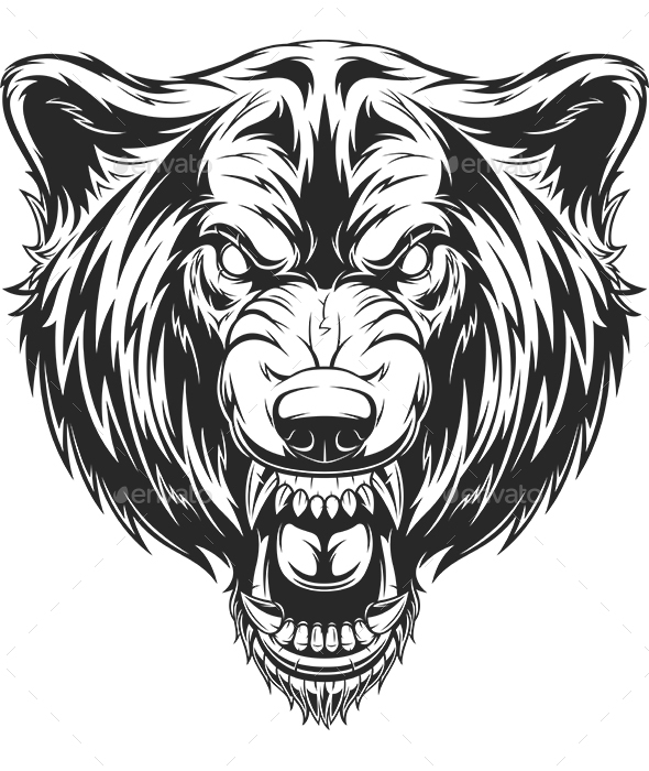 GraphicRiver Head of the Ferocious Wolf 20861106