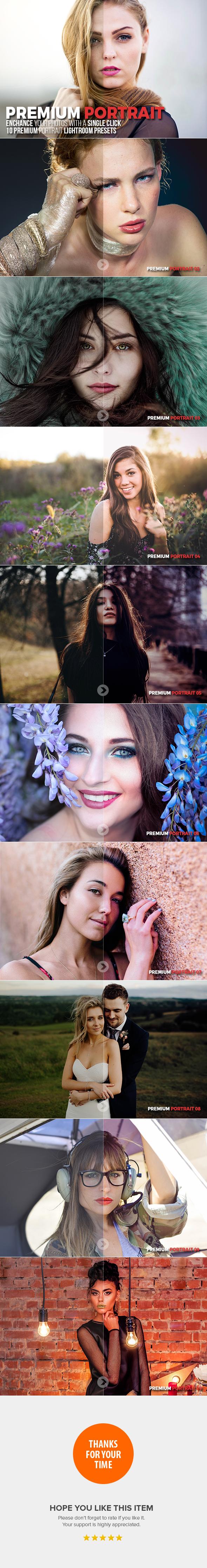 10 Premium Portrait Lightroom Presets - Portrait Lightroom Presets