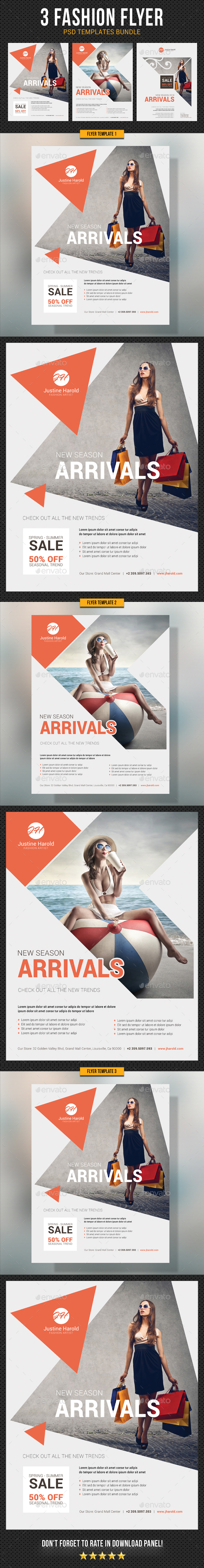 GraphicRiver Fashion Flyer Bundle 20861194