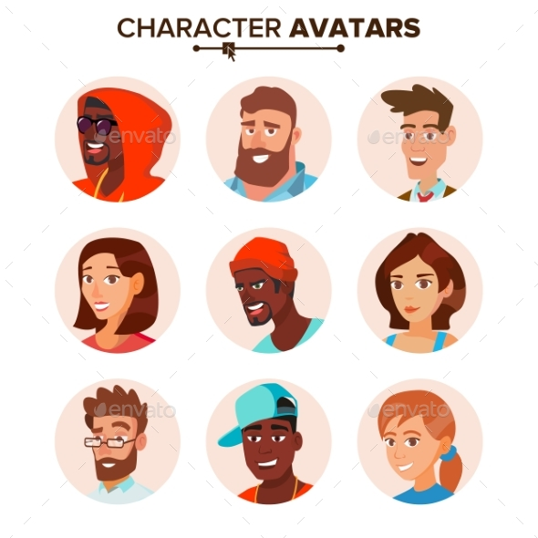 GraphicRiver People Characters Avatars Set Vector 20861217