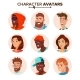 People Characters Avatars Set Vector - GraphicRiver Item for Sale