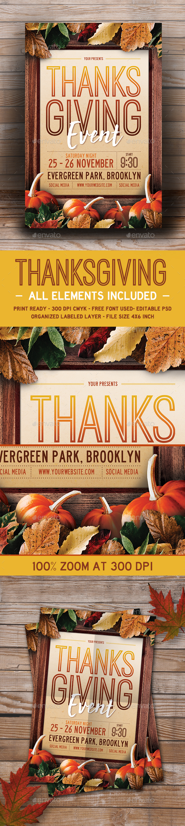 Thanksgiving Event Flyer - Events Flyers