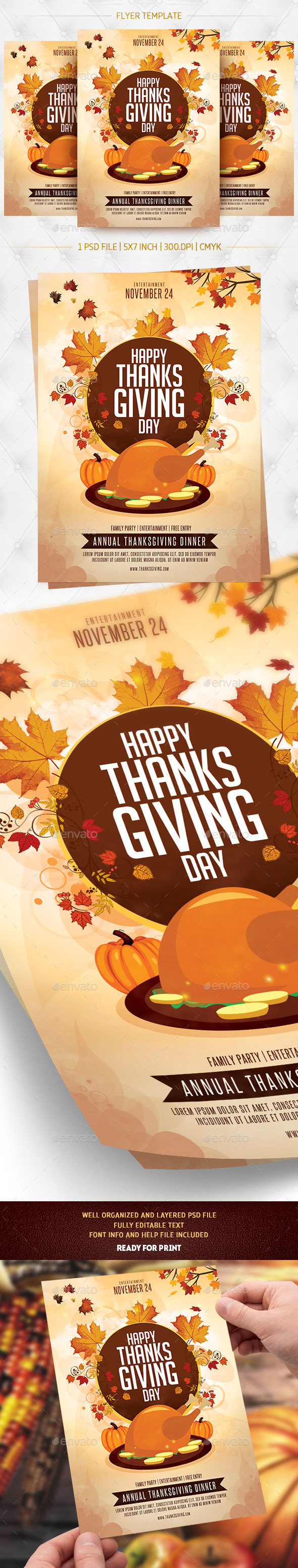 Thanksgiving Day Flyer Template v2 - Holidays Events