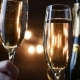 Toasting Champagne with Holiday Bokeh Blinking Background - VideoHive Item for Sale