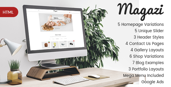 Magazi - Multipurpose e-Commerce HTML Template