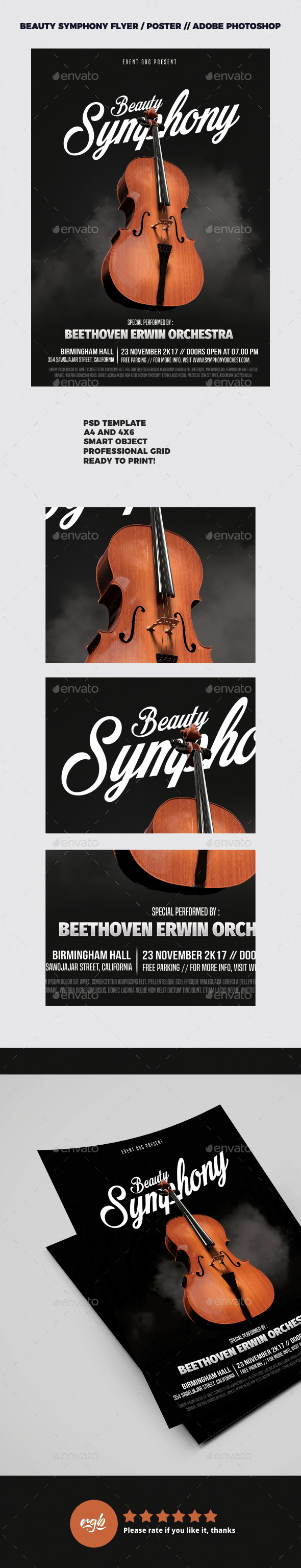Symphony Music Flyer / Poster Template - Concerts Events