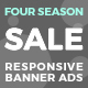 Four Seasons Sale - Responsive Animated HTML5 Banner Ads (GWD)