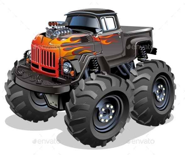 GraphicRiver Cartoon Monster Truck 20861953