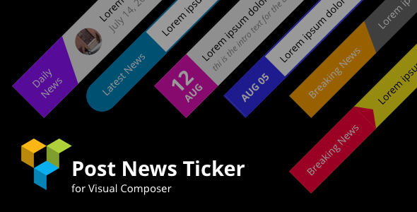 CodeCanyon Posts News Tickers for Visual Composer Wordpress Plugin 20862144