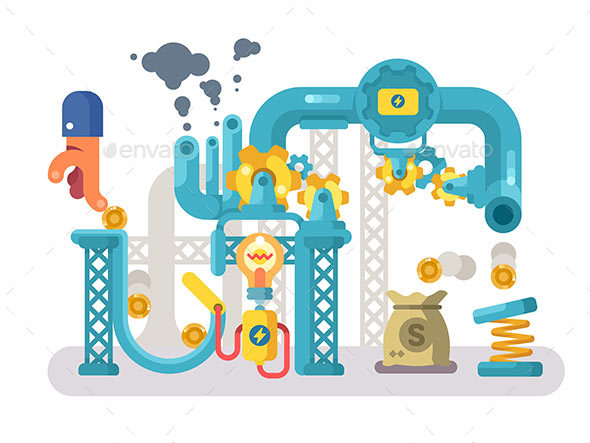 GraphicRiver Crowdfunding Abstract Structure Design Flat 20862219